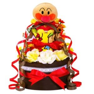 おむつケーキ アンパンマン 3段 タオル ぬいぐるみ パペット 出産祝い 名入れ 男の子 女の子 おむつケーキ 送料無料 赤ちゃん ギフト 端午の節句 by おむつケーキ、出産祝いのラグーン