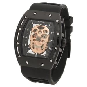 ゾンネ 時計 SONNE S160BKーBK S160 50MM メンズ腕時計 ウォッチ ブラック/ゴールド by ブランドショップAXES(日本流通自主管理協会会員)