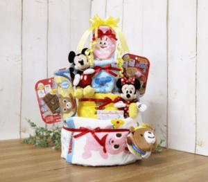 mikiHOUSE×ディズニー おむつケーキ 4段