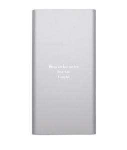 【名入れ】 モバイルバッテリー スリム シルバー