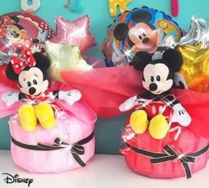 【ディズニーミッキー&ミニーバルーン】おむつケーキ