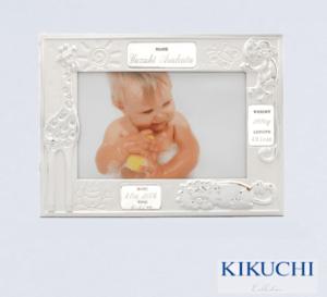 赤ちゃんのデータを彫刻出来る名入れ写真立て