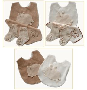 オーガニックコットン☆無農薬有機栽培綿使用の箱詰めベビーギフトセット