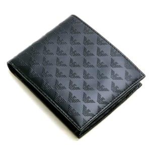 アルマーニ エンポリオアルマーニ 二つ折り財布 ブラック