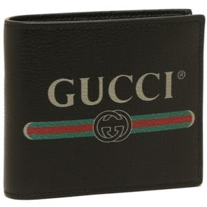 グッチ プリント メンズ 二つ折り財布