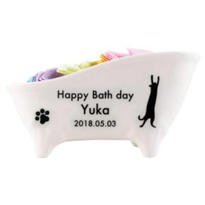 名入れ彫刻 デザインとカラーが選べる名入れ猫足バスタブ陶器付き入浴剤 ROSE(ローズ・薔薇) ギフトセット フレグランス ありがとう 母の日 by ドリームクラフト