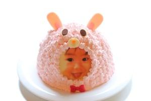 立体動物写真ケーキうさぎ5号
