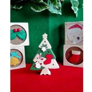 【ラッピング無料】 《クリスマスアイテム》 ☆クリスマスツリーの組み木☆
