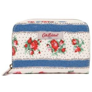 キャスキッドソン 財布 CATH KIDSTON 840217 POCKET PURSE RIBBON ROSE レディース 二つ折り財布 花柄 WARM CREAM by ブランドショップAXES(日本流通自主管理協会会員)