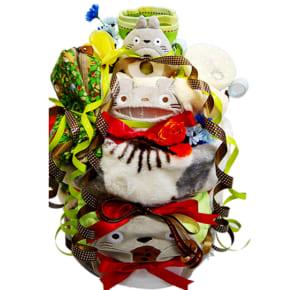 トトロのぬいぐるみの 4段 おむつケ ーキ