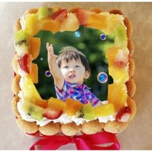 一味違うサプライズ 写真ケーキ