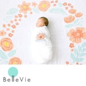 pearhead (ペアヘッド)おくるみ フォトスワドル&ステッカーセット by Belle Vie