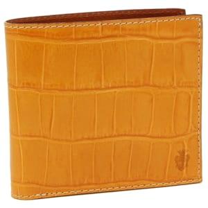 フェリージ クロコダイル型押し 二つ折り財布