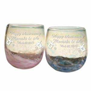 【名入れ 琉球グラス】海蛍タルグラス
