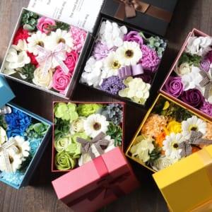 【即日発送】バスフレグランス ボックスアレンジ -花の入浴剤- by 名入れギフトSHOP