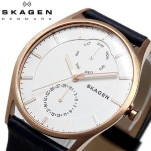 SKAGEN スカーゲン HOLST ホルスト 腕時計 クオーツ 5気圧防水 メンズ 40mm カレンダー レザーバンド スタイリッシュ シンプル デンマーク SKW6372 by CAMERON