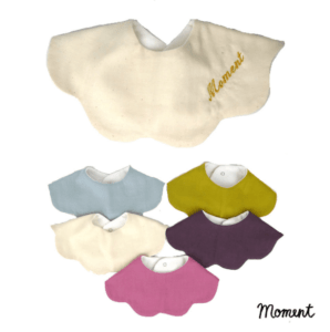 名入れ刺繍可能 MOMENT(モーメント) KUMO ベビースタイ
