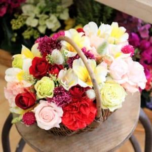 お任せ生花アレンジメント 花屋オススメのお花をお届けします フラワーアレンジメント フローリストお任せ@4870 季節の花 生花 ギフト 誕生日 お祝い お礼 記念日 退職 他 by HANABIYORI