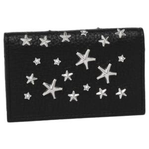 ジミーチュウ カードケース JIMMY CHOO NELLO DCS DEERSKIN WITH CRYSTAL STARS ネロ スタースタッズ レディース 名刺入れ BLACK 黒 by ブランドショップAXES(日本流通自主管理協会会員)