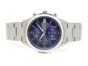 【送料無料】[SEIKO WIRED] 腕時計 ワイアード ソーラー クロノグラフ ネイビー文字盤 カーブハードレックス AGAD096 メンズ シルバー by CAMERON