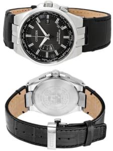 CITIZEN シチズン Eco Drive エコドライブ 電波ソーラー メンズ ウォッチ 腕時計 革ベルト レザー CB0160-00E ギフト by CAMERON