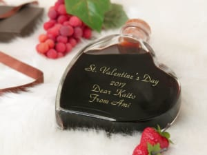 バレンタインにピッタリ 名入れ スウィートワイン ハート型