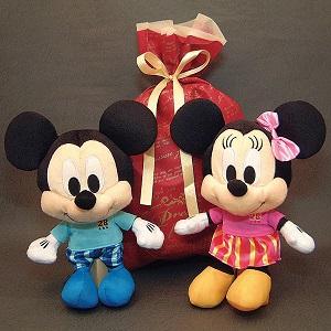 Disneyディズニー超人気ぬいぐるみドリーミー(ミッキー・ミニー)ギフト袋入り(赤)の2点セット、送料無料(沖縄・離島などを除く)誕生日・クリスマスギフト、出産祝いギフト、結婚祝いギフト、ブライダルドール、お年玉ギフト by オダジマ・アート