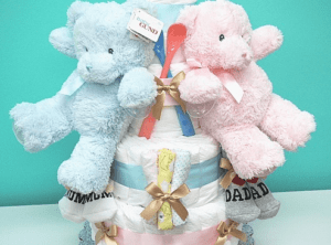★双子ちゃん用★おむつケーキ