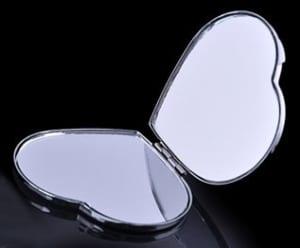 ハート ミラー イニシャル オリジナル ラインストーン 鏡