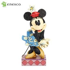 エネスコ enesco. ディズニー・トラディション Disney Traditions ミニー・マウス RETRO MINNIE MOUSE 木彫り調フィギュア ミニーマウス ギフト 出産祝い 男の子 女の子 おもちゃ 誕生日 1歳 2歳 3歳 4歳 5歳 6歳 男 女 入学 内祝い 赤ちゃん