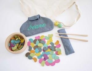 【送料無料】gg* mame ohagki (まめおはじき) 箸の使い方の練習♪