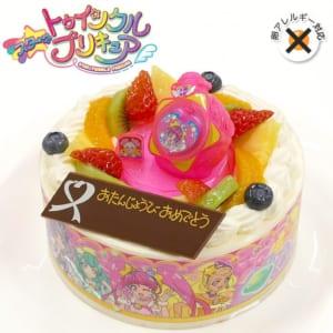 アレルギー対応 卵不使用 キャラデコお祝いケーキ スター☆トゥインクルプリキュア 5号 15cm 生クリームショートケーキ by CAKE EXPRESS