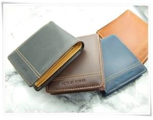 【名入れ】牛革二つ折り財布