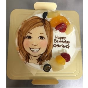 似顔絵生クリームデコレーションケーキ