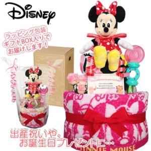 「ディズニー ミニーマウス」のおむつケーキ ・ウォッシュタオル