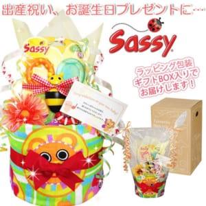 「Sassy(サッシー)のおむつケーキ」│ウォッシュタオル
