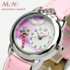 【mini】 ミニ ハンドメイド デコウォッチ 腕時計 キッズ ガール プリンセス