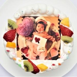 写真ケーキ「豆乳クリームベース」【15cm 5号】3人~5人用