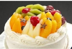 【七色フルーツケーキ】≪フルーツパフェのようなまあるいケーキ!≫