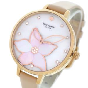 ケイトスペード KATE SPADE 腕時計 レディース KSW1302 クォーツ ホワイト ベージュ 送料無料 by トレンドギフト