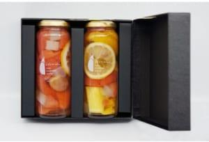 フルーツピクルス2種『シトラス3種とパイナップル・グレープフルーツとぶどう』ギフトセット by CONDIMENTO MEDITERRANEO