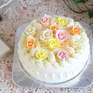 バタークリームデコレーションケーキ 5号