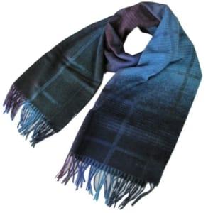ポールスミス マフラー メンズ ストール グラデーション ウール100% ブルー系 873E AS04 47 Made in GREAT BRITAIN by Alevel(エイレベル)
