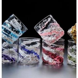 沖縄琉球ガラス 残波ロックグラス