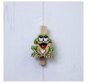木製クリップ カエルさん