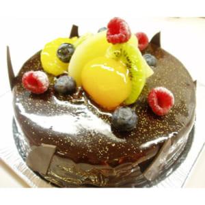 輝くショコラ&フルーツケーキ