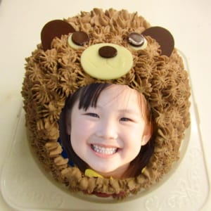立体動物写真ケーキくま5号