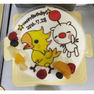 ☆イラスト生クリームデコレーションケーキ 6号☆