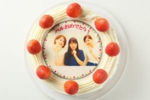 大人気!写真デコレーションケーキ(イチゴトッピング)
