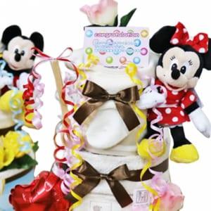 ディズニー おむつケーキ 3段